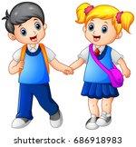vector illustration of cartoon... | Shutterstock .eps vector #686918983