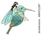 hand drawn beautiful artwork of ... | Shutterstock .eps vector #686921287