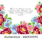 vintage delicate invitation... | Shutterstock .eps vector #686924593
