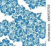 abstract elegance seamless... | Shutterstock .eps vector #686925703
