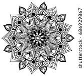 mandalas for coloring book.... | Shutterstock .eps vector #686929867
