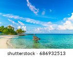 beautiful tropical maldives... | Shutterstock . vector #686932513
