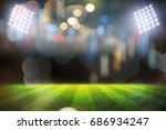 lights at night and football... | Shutterstock . vector #686934247