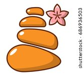 stones for spa icon. cartoon... | Shutterstock .eps vector #686936503