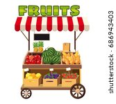 fruit mobile snack icon.... | Shutterstock .eps vector #686943403
