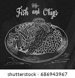 traditional english dish fish... | Shutterstock .eps vector #686943967