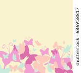 card with butterflies  vector | Shutterstock .eps vector #686958817