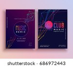 club music party flyer template ... | Shutterstock .eps vector #686972443