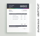 modern invoice template form... | Shutterstock .eps vector #686974147