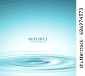transparent water ripple vector ...   Shutterstock .eps vector #686974573