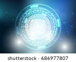 abstract background  connection ... | Shutterstock .eps vector #686977807