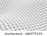 close up look at interlaced... | Shutterstock . vector #686979133