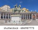 bronze statue of king ferdinand ... | Shutterstock . vector #686987773