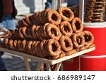 turkish bagel bread with sesame ... | Shutterstock . vector #686989147