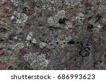 close up view of an old stone... | Shutterstock . vector #686993623