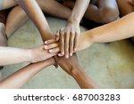 success partnership business... | Shutterstock . vector #687003283