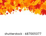 autumn background. colorful... | Shutterstock .eps vector #687005377