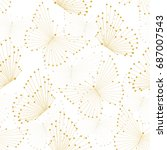 seamless pattern with yellow... | Shutterstock .eps vector #687007543