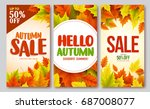 autumn sale and hello autumn... | Shutterstock .eps vector #687008077