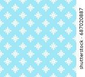 floral pattern. flower seamless ... | Shutterstock .eps vector #687020887