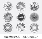 abstract swirl set dynamic flow ... | Shutterstock .eps vector #687023167