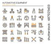 automotive equipments   thin... | Shutterstock .eps vector #687025603