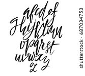 hand drawn elegant calligraphy... | Shutterstock .eps vector #687034753