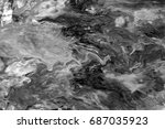 black and white  abstract... | Shutterstock . vector #687035923