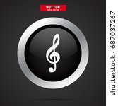 treble clef icon | Shutterstock .eps vector #687037267