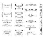 unique hand drawn logo template ... | Shutterstock .eps vector #687042127