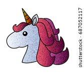 stylized muzzle of the unicorn. ... | Shutterstock .eps vector #687052117
