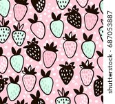 seamless pattern with hand... | Shutterstock .eps vector #687053887