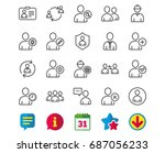 users line icons. profile ... | Shutterstock .eps vector #687056233