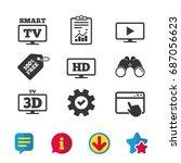 smart tv mode icon. widescreen...