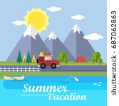 summer vacation background | Shutterstock .eps vector #687062863