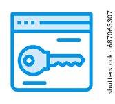 web page key    Shutterstock .eps vector #687063307