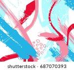 vector artistic creative... | Shutterstock .eps vector #687070393