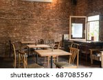 comfortable coffee shop... | Shutterstock . vector #687085567