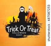 trick or treat  halloween night ...   Shutterstock .eps vector #687087253