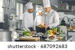 In The Modern Kitchen Team Of...