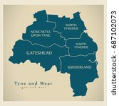 modern map   tyne and wear