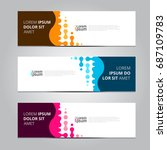 vector abstract design banner... | Shutterstock .eps vector #687109783