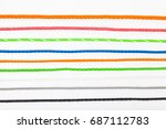 isolated colorful plastic rope... | Shutterstock . vector #687112783