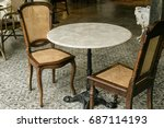 furniture chair table... | Shutterstock . vector #687114193