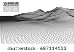 abstract vector landscape... | Shutterstock .eps vector #687114523