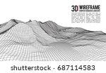 abstract vector landscape... | Shutterstock .eps vector #687114583