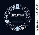jewelry shop  diamond...   Shutterstock .eps vector #687133813