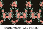 seamless folk border in small... | Shutterstock .eps vector #687140887