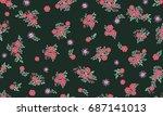 seamless folk pattern in small...   Shutterstock .eps vector #687141013
