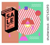 summer sale memphis style web... | Shutterstock .eps vector #687142693